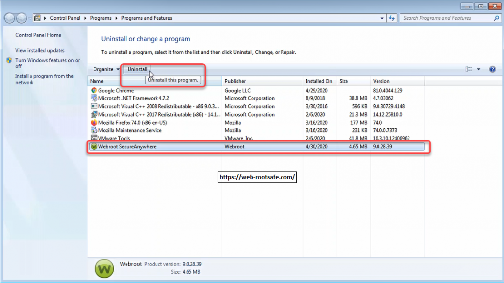 How You Can Use Webroot Removal Tool In Window 10/8/7? – www.webroot.com/safe | Webroot.com/safe